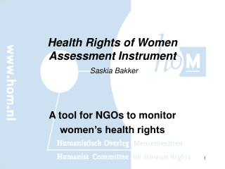 Health Rights of Women Assessment Instrument Saskia Bakker