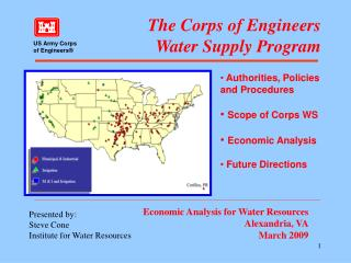 The Corps of Engineers  Water Supply Program