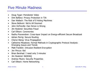 Five Minute Madness