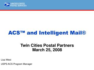 ACS  and Intelligent Mail