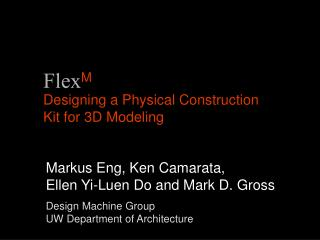 Designing a Physical Construction Kit for 3D Modeling