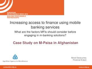 Case  Study  on M- Paisa  in Afghanistan