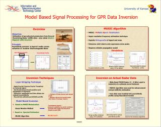 Overview Objective:  Estimation of geo-physical parameters from Ground
