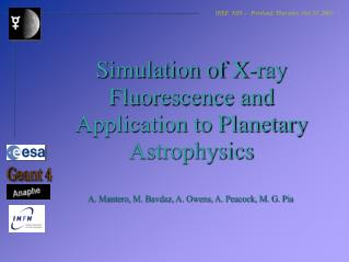 Simulation of X-ray Fluorescence and Application to Planetary Astrophysics