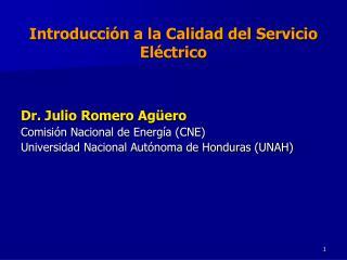 Introducción a la Calidad del Servicio Eléctrico