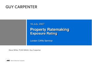 Property Ratemaking Exposure Rating