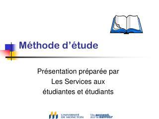 Méthode d'étude
