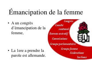 Émancipation de la femme