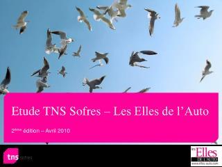 Etude TNS Sofres – Les Elles de l'Auto