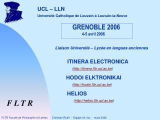 GRENOBLE 2006 4-5 avril 2006