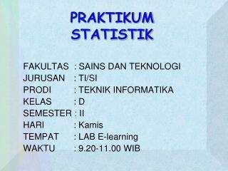 PRAKTIKUM STATISTIK