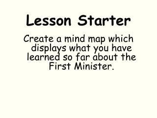 Lesson Starter