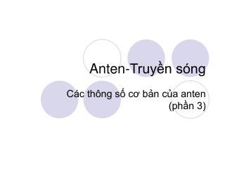 Anten-Truyền sóng