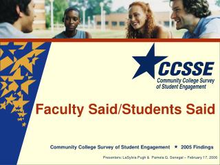 Faculty Said/Students Said