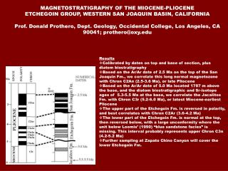 MAGNETOSTRATIGRAPHY OF THE MIOCENE-PLIOCENE