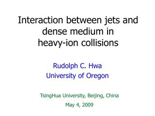 Interaction between jets and dense medium in  heavy-ion collisions