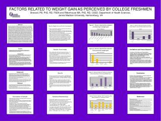 FACTORS RELATED TO WEIGHT GAIN AS PERCEIVED BY COLLEGE FRESHMEN