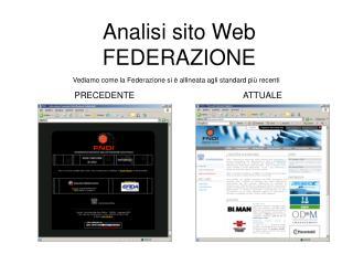 Analisi sito Web FEDERAZIONE