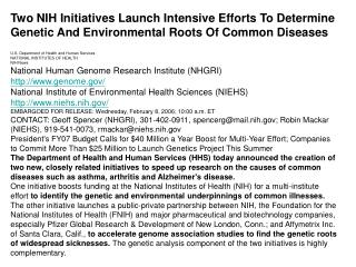 73NIH Initiatives