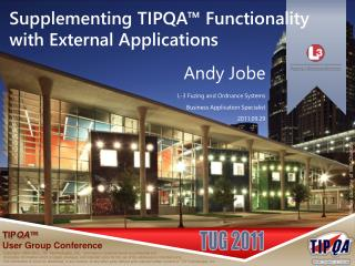 Supplementing TIPQA™ Functionality with External Applications