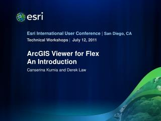 ArcGIS Viewer for Flex An Introduction