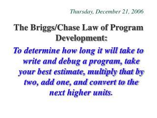 Thursday, December 21, 2006