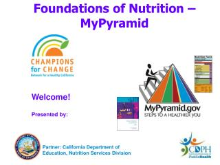 Foundations of Nutrition –MyPyramid