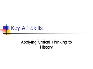 Key AP Skills