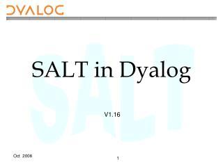 SALT in Dyalog