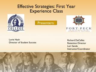 Effective Strategies: First Year Experience Class
