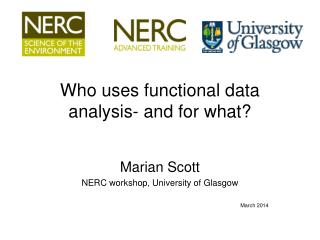 Who uses functional data analysis- and for what?