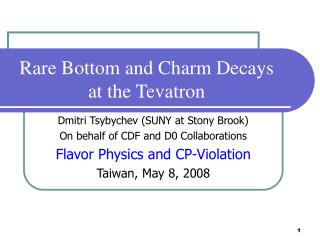 Rare Bottom and Charm Decays  at the Tevatron