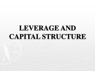 LEVERAGE AND CAPITAL STRUCTURE