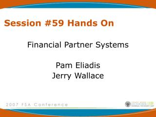 Session #59 Hands On