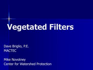 Vegetated Filters