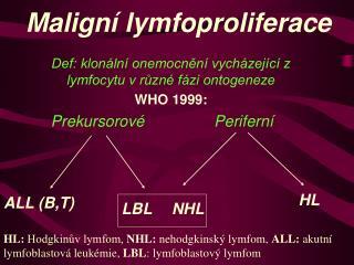 Malign  lymfoproliferace