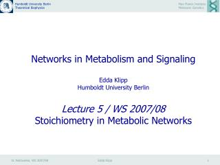 Stoichiometric Analysis of Cellular Reaction Systems