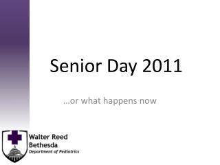Senior Day 2011