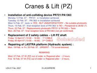 Cranes & Lift (PZ)