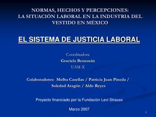 NORMAS, HECHOS Y PERCEPCIONES:  LA SITUACIÓN LABORAL EN LA INDUSTRIA DEL VESTIDO EN MÉXICO