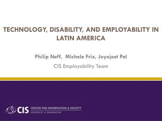 Technology, Disability, and Employability in Latin America