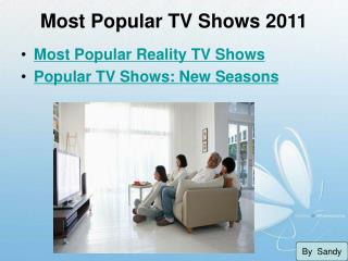 Most Popular TV Shows 2011