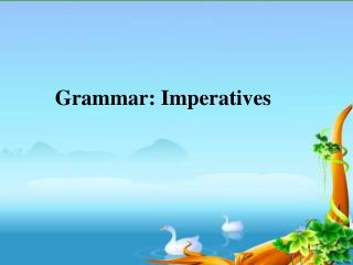 Grammar: Imperatives