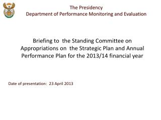 Date of presentation:  23 April 2013