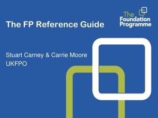 The FP Reference Guide