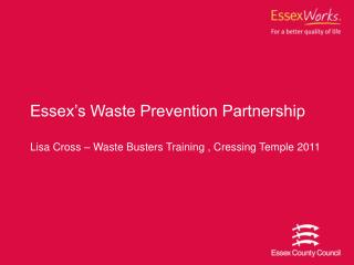 Essex's Waste Prevention Partnership