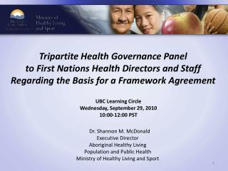 UBC Learning Circle Wednesday, September 29, 2010 10:00-12:00 PST