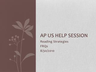 AP US Help Session