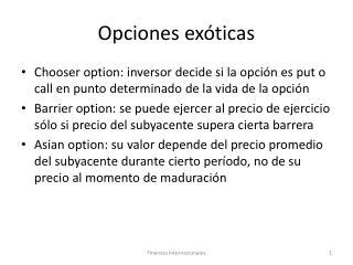 Opciones exóticas