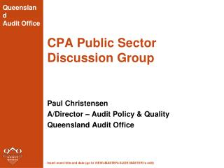 CPA Public Sector Discussion Group